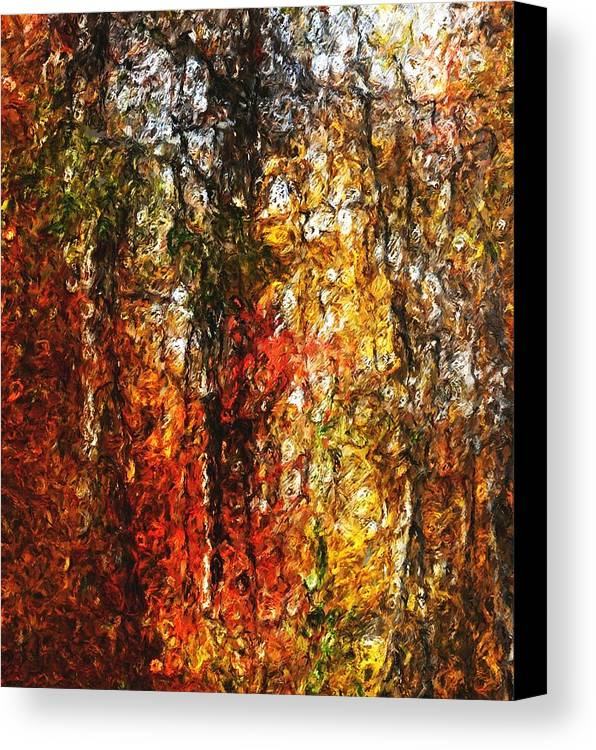 Photo Manipulation Canvas Print featuring the digital art Autumn In The Woods by David Lane