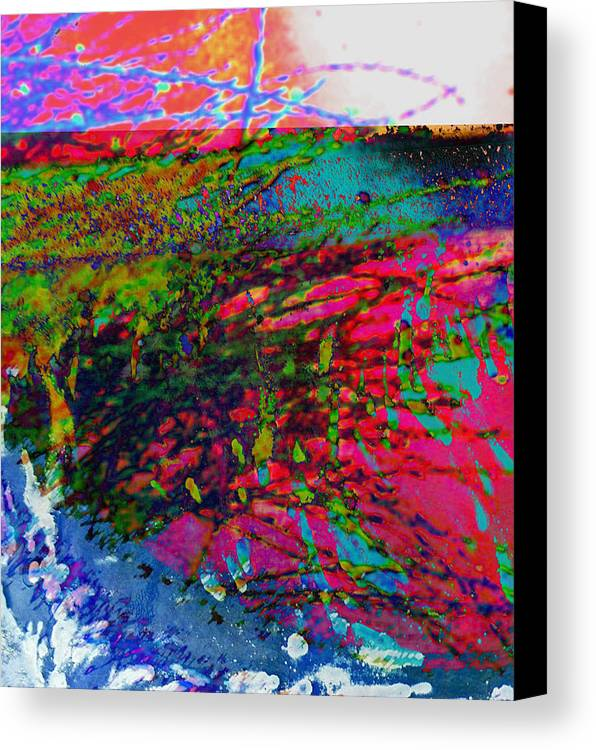 Abstract Canvas Print featuring the photograph Landscape From Another World by Lenore Senior
