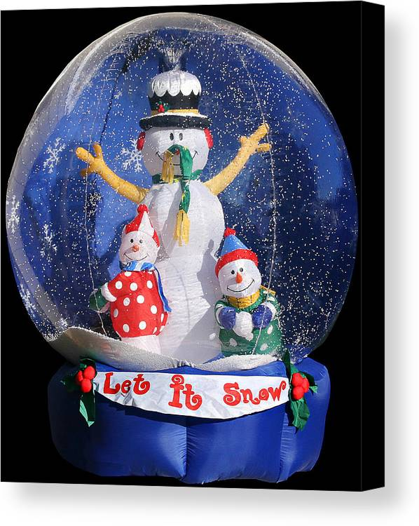 Weird Canvas Print featuring the photograph Let It Snow by Christine Till