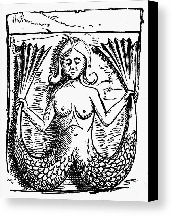 Ancient Canvas Print featuring the photograph Mythology: Mermaid by Granger