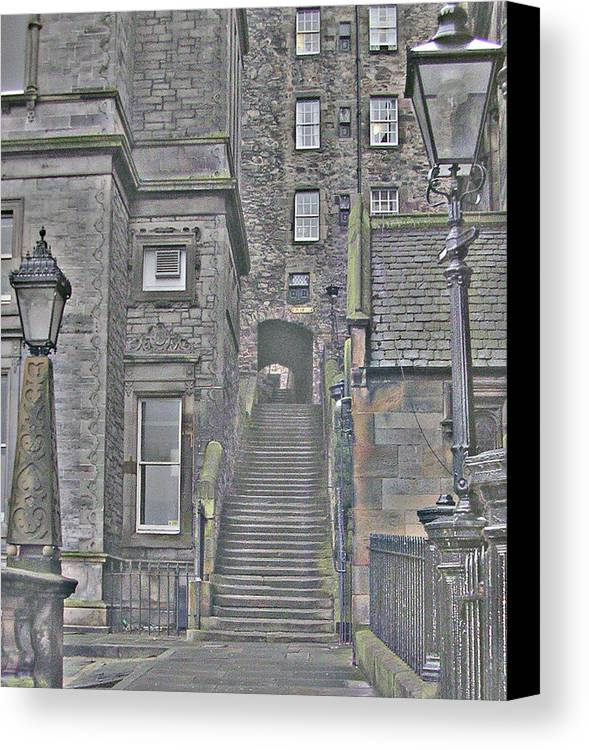 Canvas Print featuring the photograph Scotish Stairs by Allison Whitmer