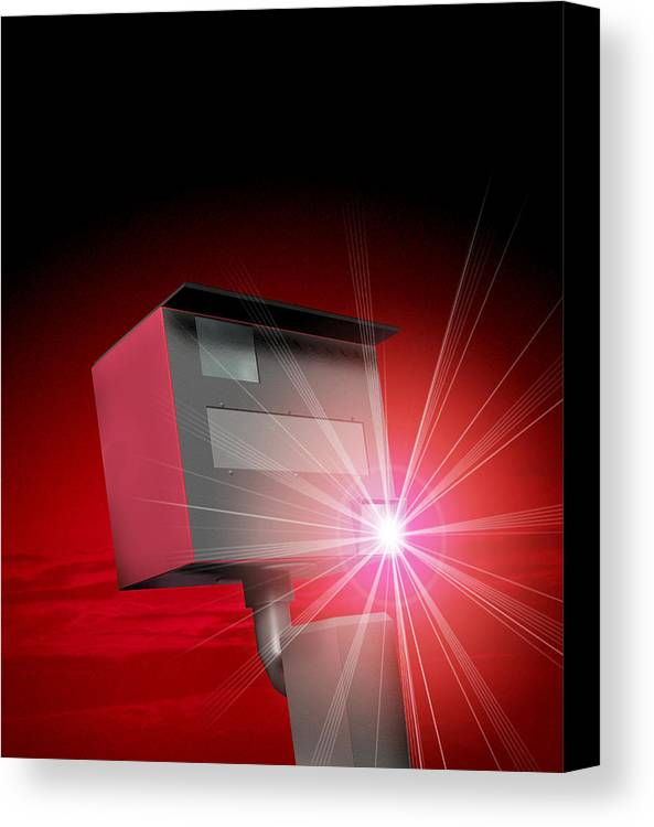 Speed Camera Canvas Print featuring the photograph Speed Camera by Victor Habbick Visions