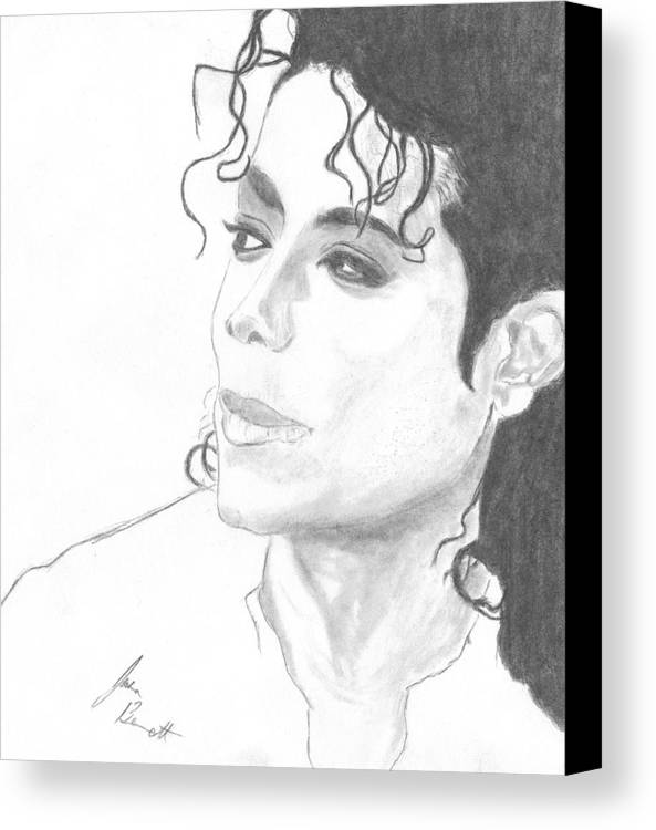 Michael Jackson Canvas Print featuring the drawing Remembering Michael by Josh Bennett