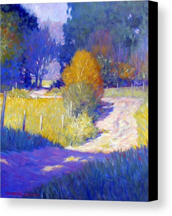 Landscape Canvas Print featuring the painting Back Road by Kevin Lawrence Leveque