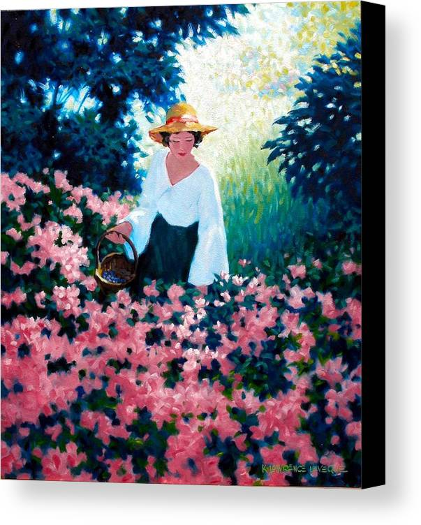 Woman Canvas Print featuring the painting Mulberry Time by Kevin Lawrence Leveque
