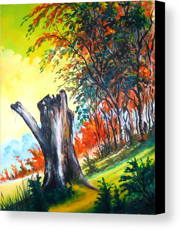 Landscape Canvas Print featuring the painting Verde Que Te Quero Verde by Leomariano artist BRASIL
