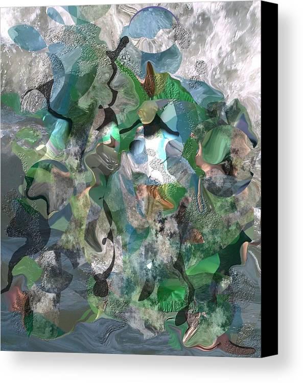 Beach Canvas Print featuring the digital art Beach Collage by Peter Shor