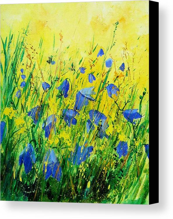 Poppies Canvas Print featuring the painting Blue Bells by Pol Ledent