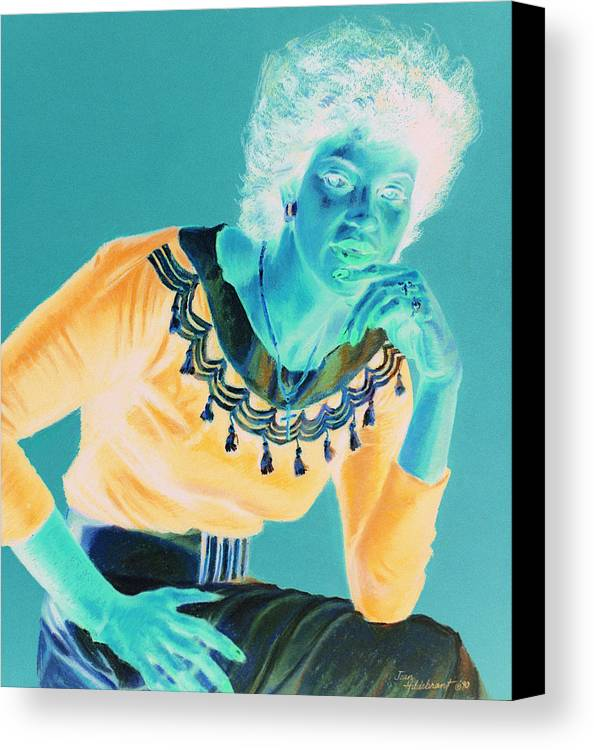 Portrait Canvas Print featuring the painting Bobbi by Jean Hildebrant