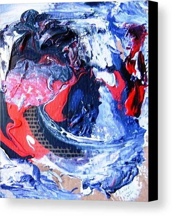 Accident Motercydle Canvas Print featuring the painting Brave Biker by Bruce Combs - REACH BEYOND