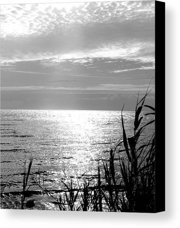Lake Pontchartrain Canvas Print featuring the photograph Cloud Circle Over Lake Pontchartrain by Heather S Huston