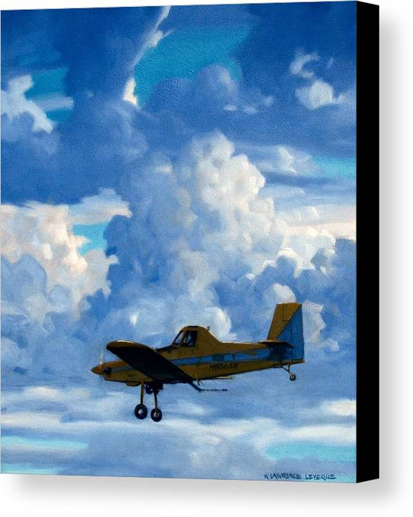 Airplanes Canvas Print featuring the painting Crop Duster by Kevin Lawrence Leveque