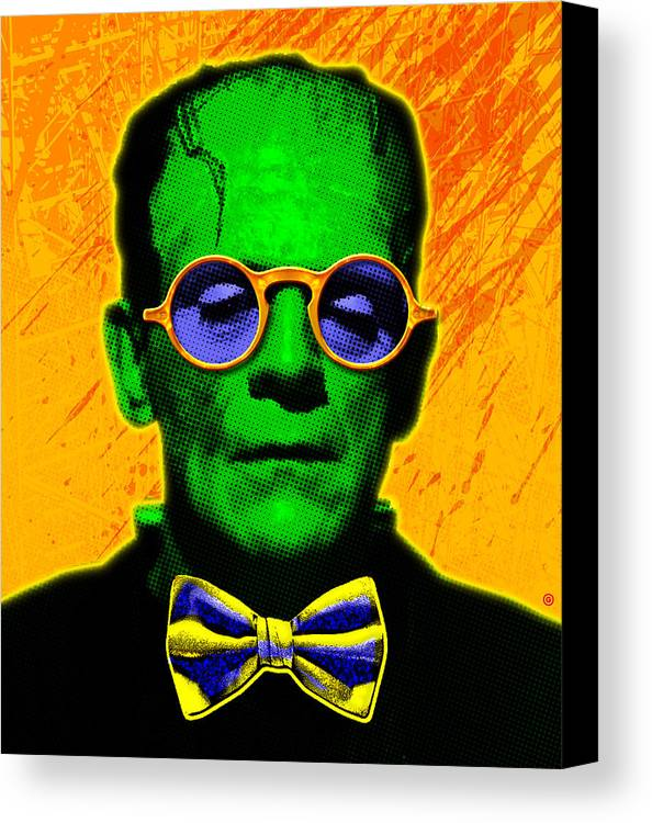Pop Art Canvas Print featuring the painting Dapper Monster by Gary Grayson