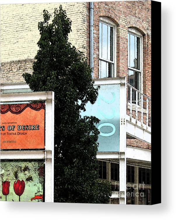 Collage Canvas Print featuring the photograph Downtown Collage 6 by Gary Everson