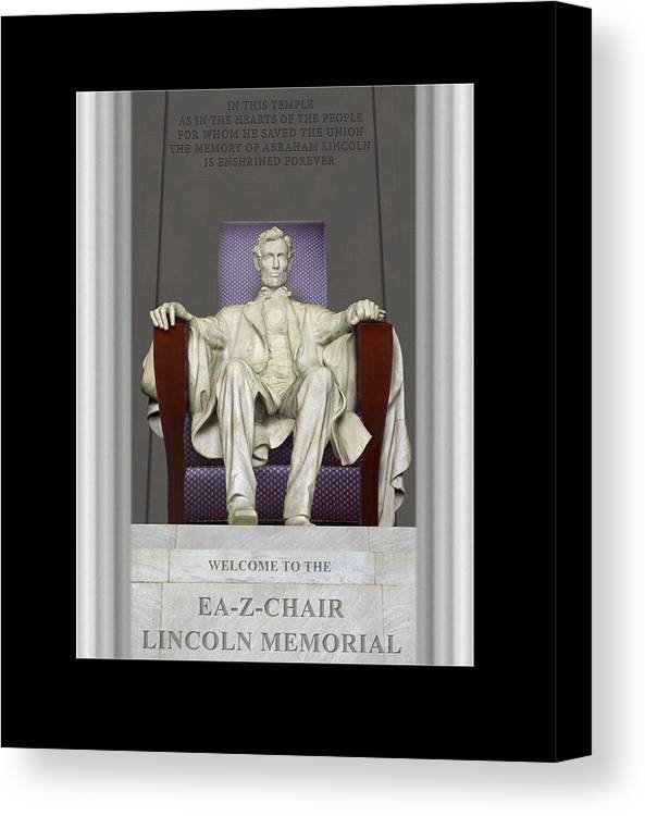 Lincoln Memorial Canvas Print featuring the photograph Ea-z-chair Lincoln Memorial by Mike McGlothlen