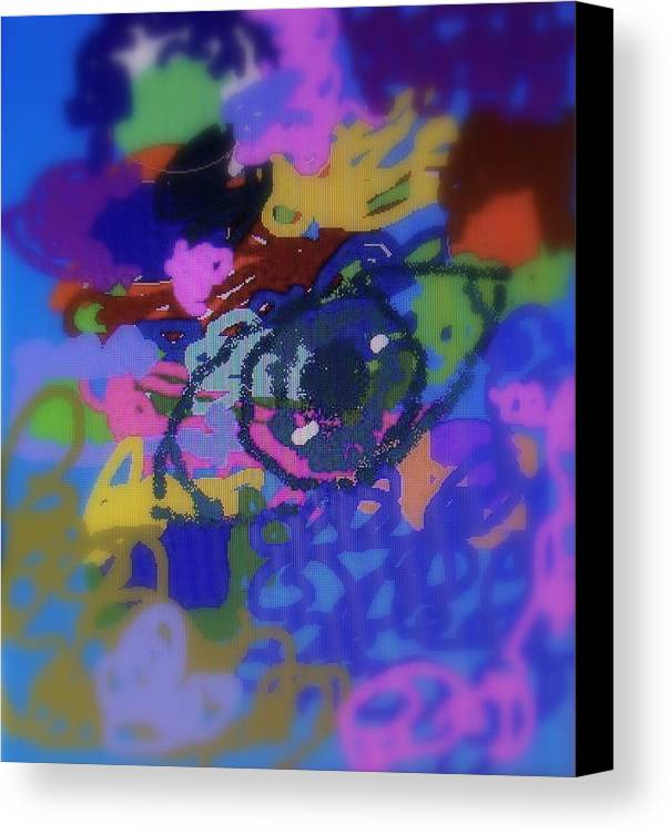 Abstract Canvas Print featuring the digital art Eye by Cybele Chaves
