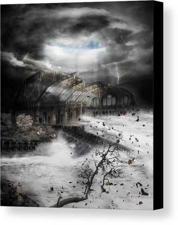 Hurricane Canvas Print featuring the digital art Eye Of The Storm by Mary Hood