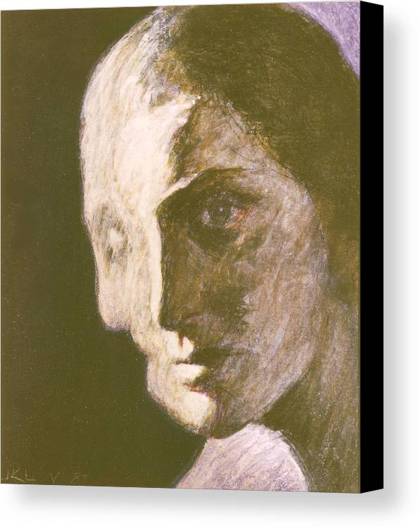 Head-study Canvas Print featuring the painting Fear Of Growing Old by James LeGros
