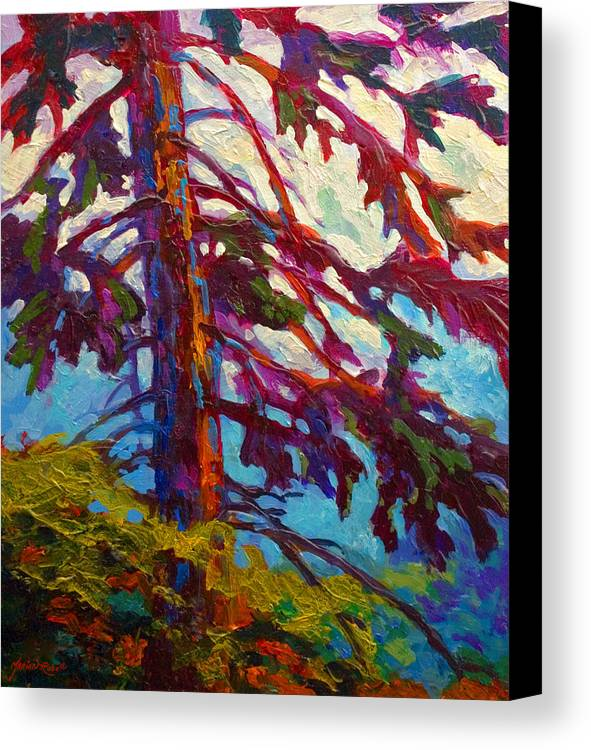 Trees Canvas Print featuring the painting Forest Elder by Marion Rose