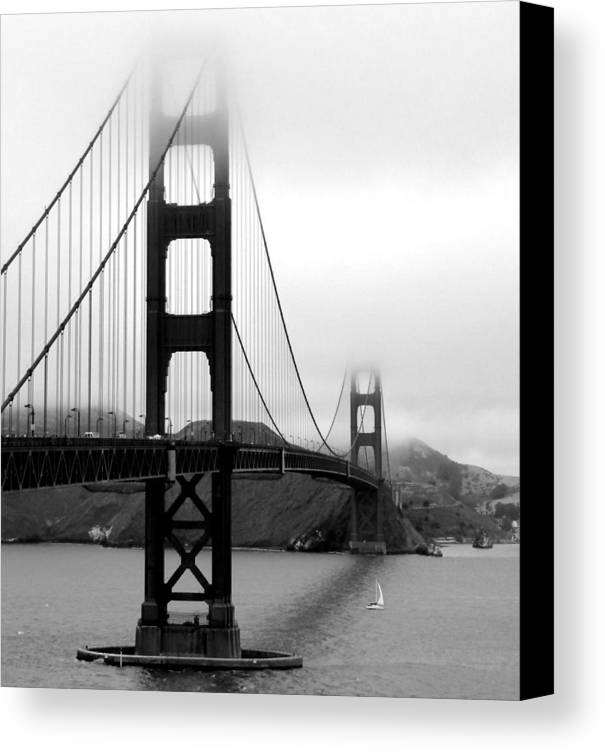 Vertical Canvas Print featuring the photograph Golden Gate Bridge by Federica Gentile