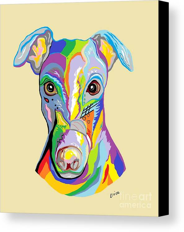 Dog Canvas Print featuring the painting Greyhound by Eloise Schneider