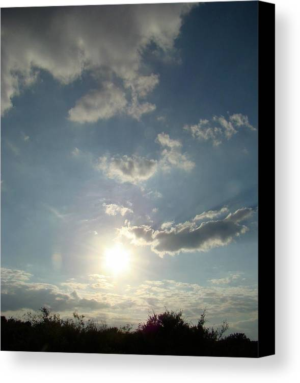 Landscape Canvas Print featuring the photograph Hill Sky Two by Ana Villaronga