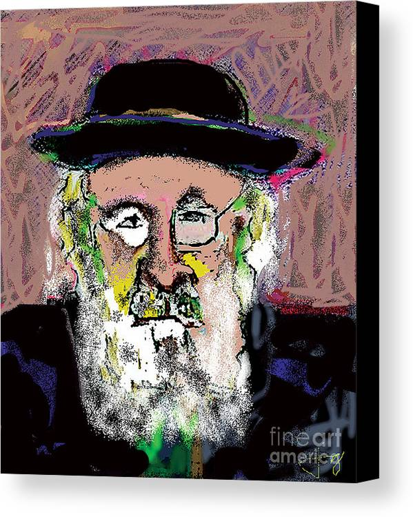 Portrait Canvas Print featuring the mixed media Jerusalem Man No. 2 by Joyce Goldin