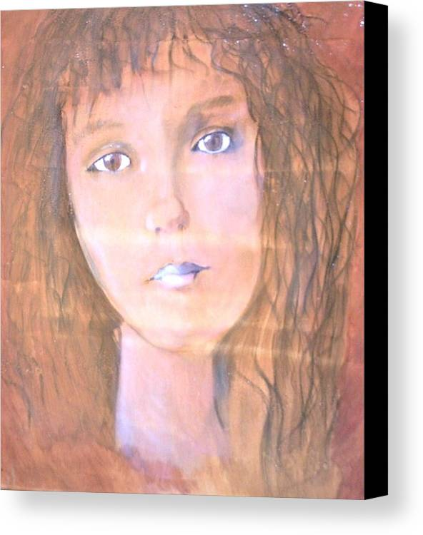 Woman Canvas Print featuring the painting Katarina by J Bauer