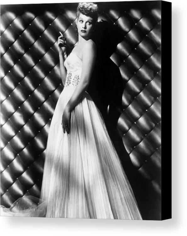 1950s Portraits Canvas Print featuring the photograph Lucille Ball, Ca. 1950s by Everett