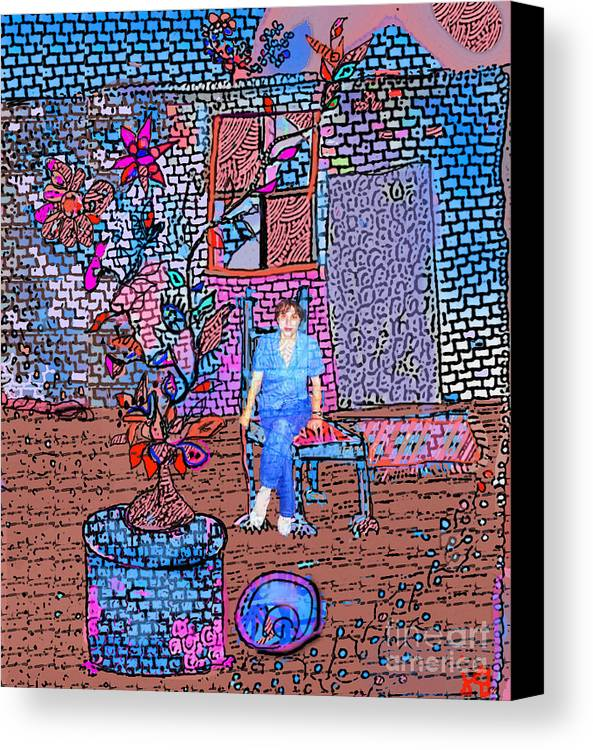Abstract Canvas Print featuring the digital art My Room by Joyce Goldin
