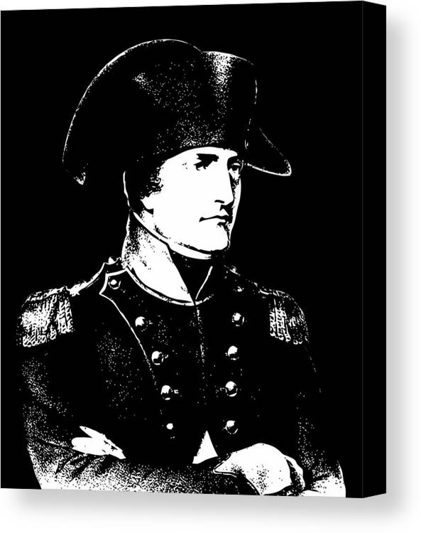 Napoleon Canvas Print featuring the digital art Napoleon Bonaparte by War Is Hell Store
