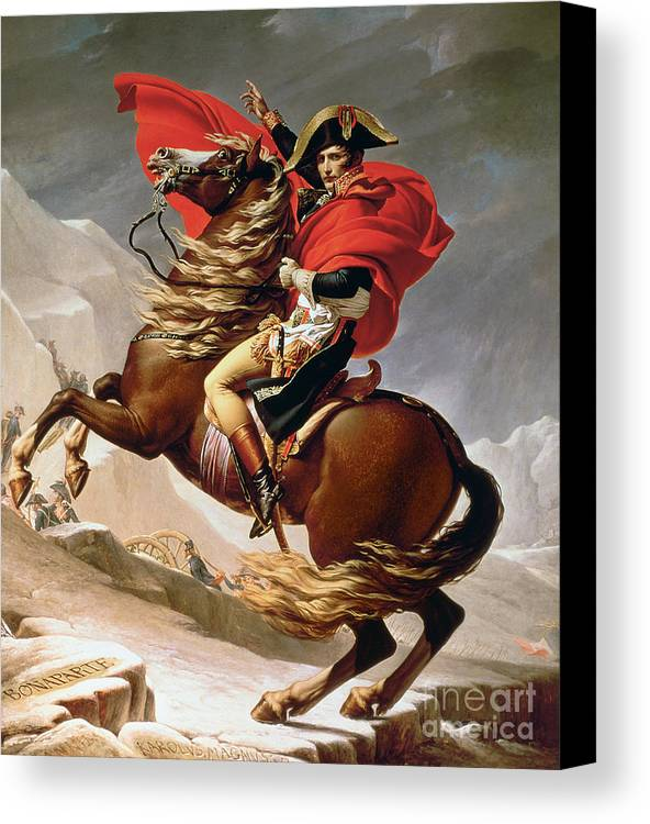 Napoleon crossing the alps canvas print canvas art by for Napoleon horse painting