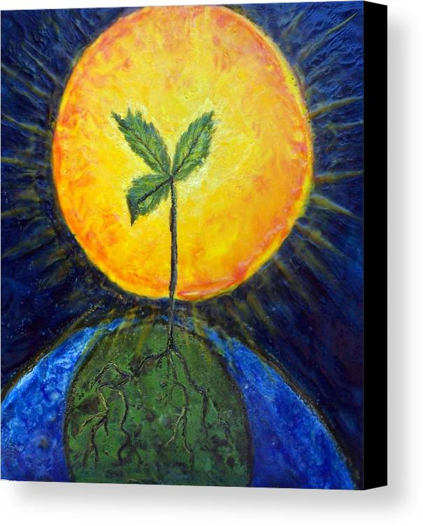 Sun Canvas Print featuring the painting New Thought by Karla Phlypo-Price
