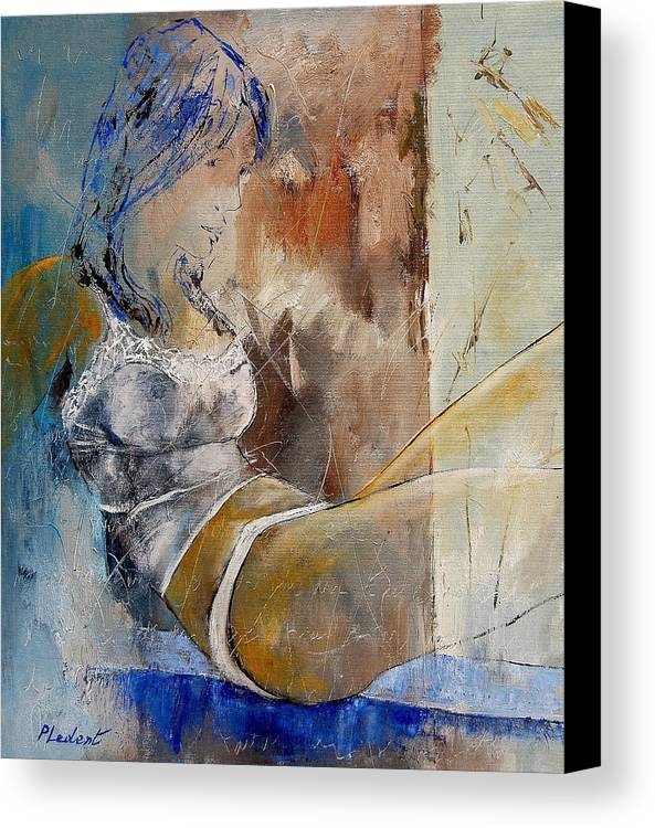 Nude Canvas Print featuring the painting Nude 67524236 by Pol Ledent