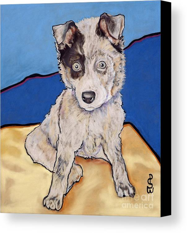 Merle Aussie Canvas Print featuring the painting Reba Rae by Pat Saunders-White