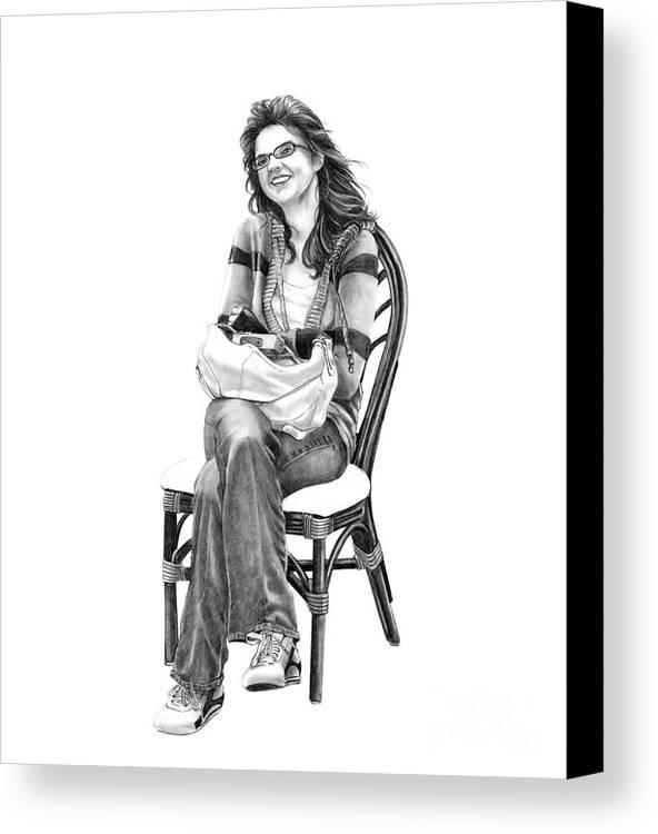 Figure Drawing Canvas Print featuring the drawing Samantha Jonice Elliott by Murphy Elliott