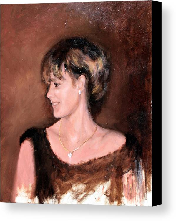 Portrait Canvas Print featuring the painting Sara by Mario Zampedroni