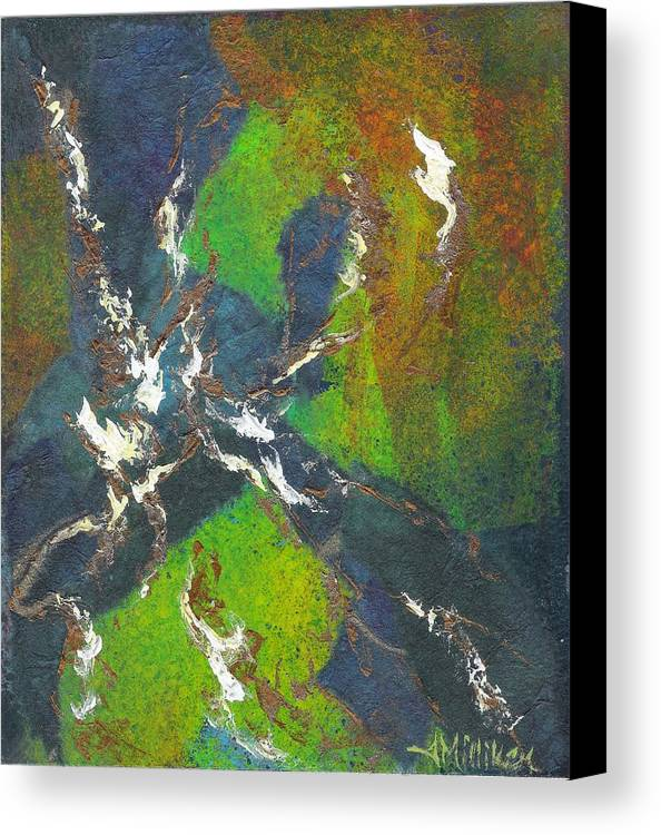 Collage Canvas Print featuring the painting Shadow Dancing by Tara Milliken