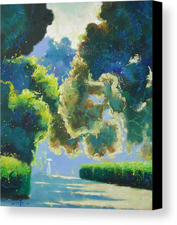 Landscape Canvas Print featuring the painting Sunny Noon by Andrej Vystropov