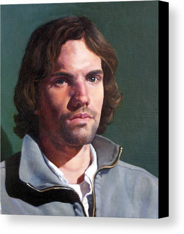 Portrait Canvas Print featuring the painting Toby by Deborah Allison