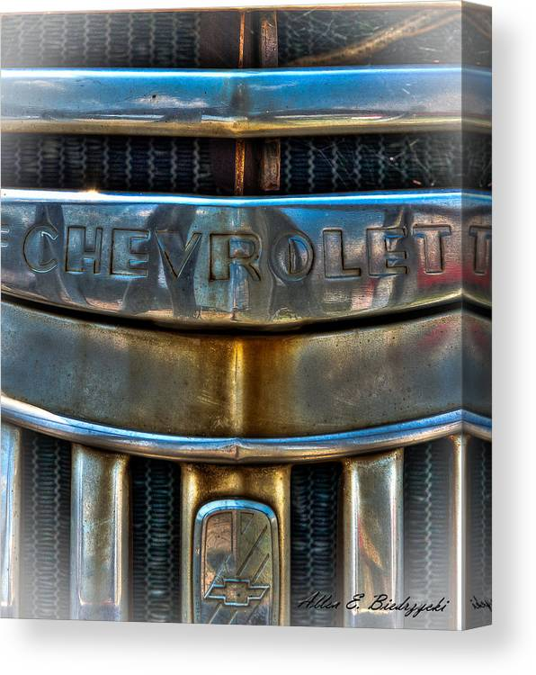 Old Chevy Canvas Print featuring the photograph Chevrolet by Allen Biedrzycki