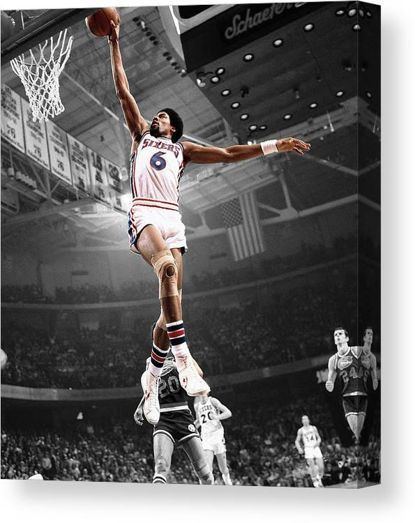 be4693c362ac9b Dr J Canvas Print   Canvas Art by Brian Reaves