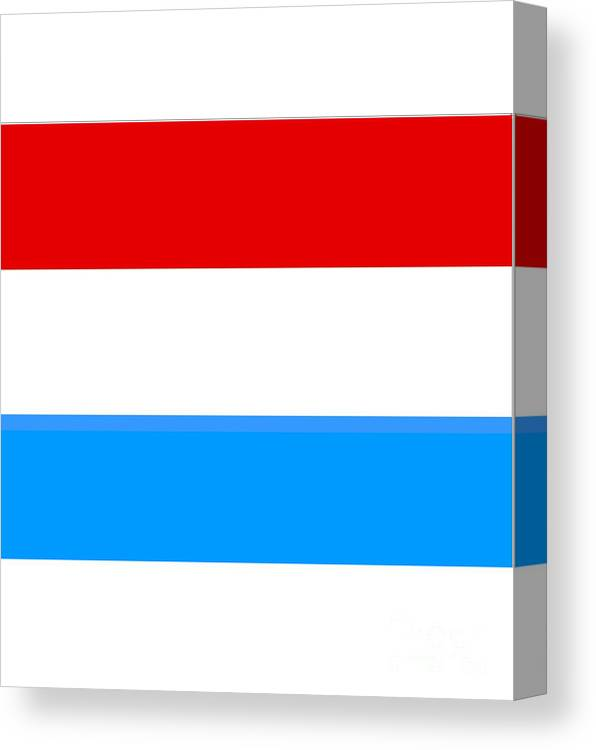 Luxembourg Canvas Print featuring the digital art Luxembourg Flag by Frederick Holiday