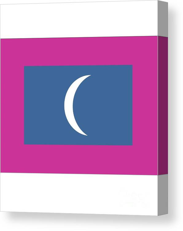 Maldives Canvas Print featuring the digital art Maldives Flag by Frederick Holiday
