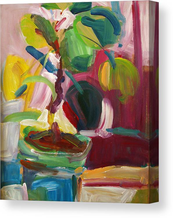 Plant Canvas Print featuring the painting Plant by Magdalena Mirowicz