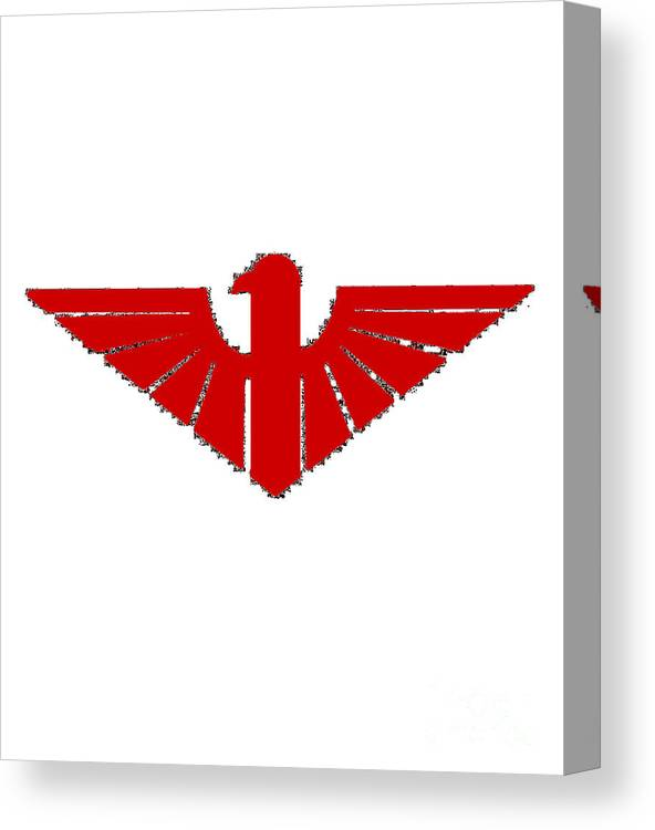 Red Canvas Print featuring the digital art Red Thunderbird 2 by Frederick Holiday