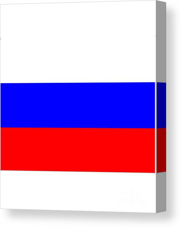 Russia Canvas Print featuring the digital art Russia Flag by Frederick Holiday