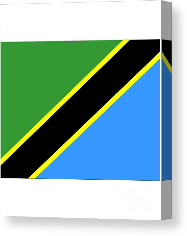 Tanzania Canvas Print featuring the digital art Tanzania Flag by Frederick Holiday