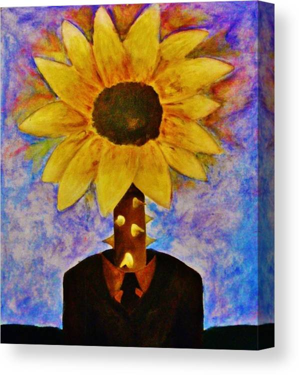 Surreal Canvas Print featuring the painting The Extraordinary Man by Crystal Menicola