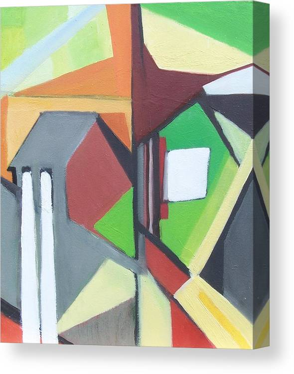 Contemporary Painting Canvas Print featuring the painting A Jersey Abstraction by Ron Erickson